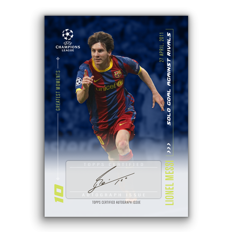 TOPPS DESIGNED BY LIONEL MESSI CARTE AUTOGRAPHE 03