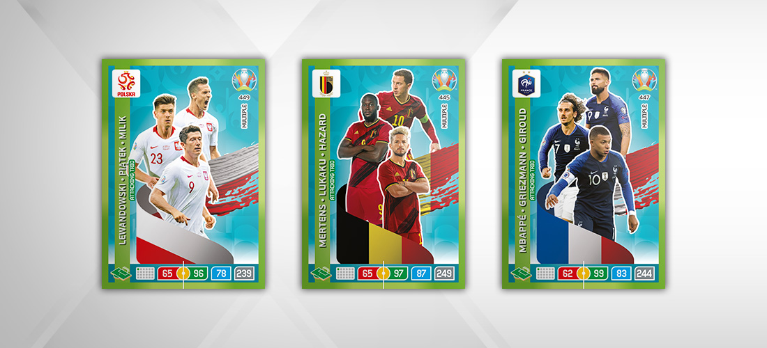 PANINI ADRENALYN XL EURO 2020 MODELE CARTE ATTACKING TRIO