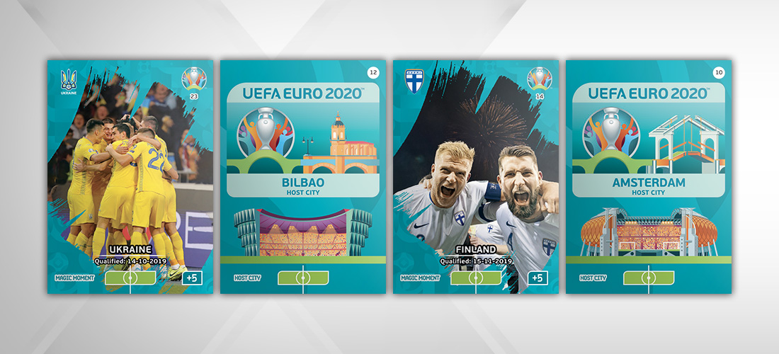 PANINI ADRENALYN XL EURO 2020 MODELE CARTE HOST