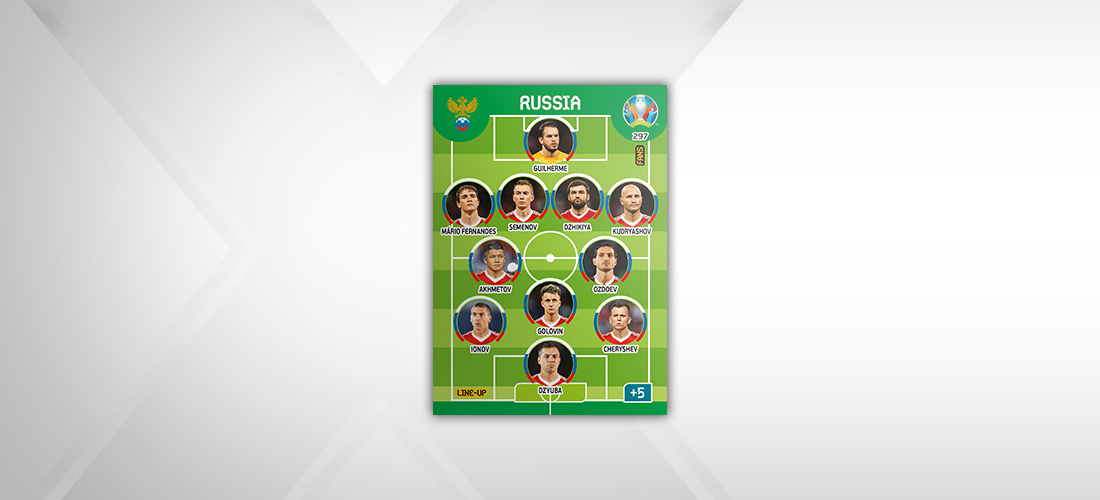 PANINI ADRENALYN XL EURO 2020 MODELE CARTE LINE-UP