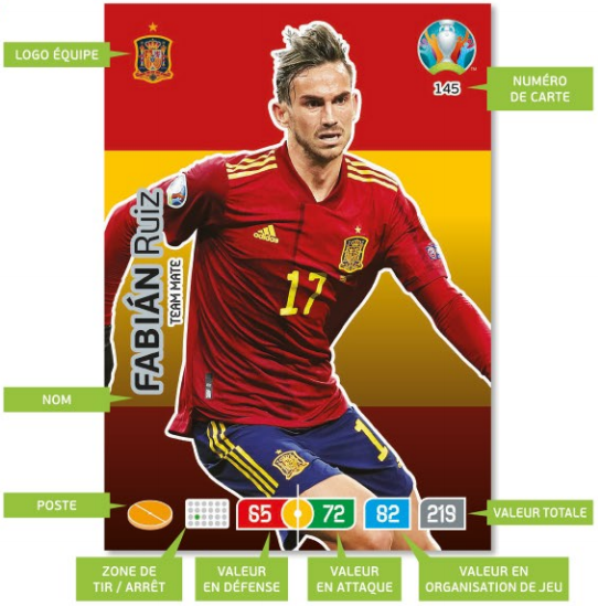 PANINI ADRENALYN XL EURO 2020 MODELE TYPE DE CARTE