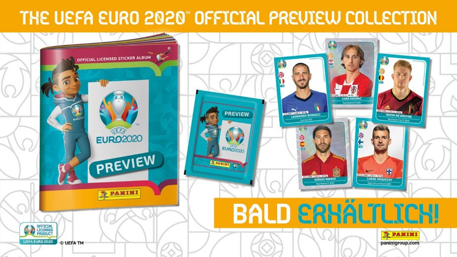 EURO 2020 PREVIEW STICKERS BANNIERE