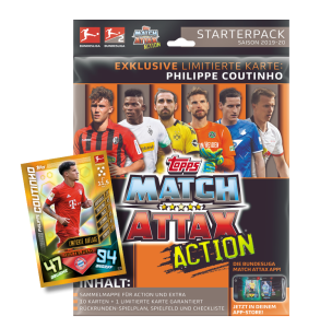 TOPPS MATCH ATTAX BUNDESLIGA 2019-20 ACTION STARTERPACK