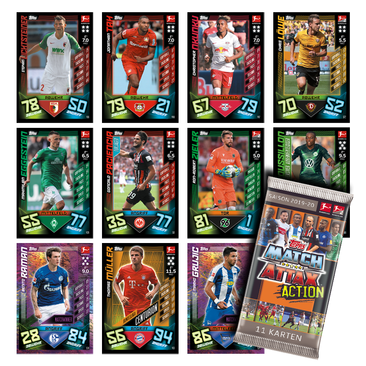 TOPPS MATCH ATTAX BUNDESLIGA 2019-20 ACTION VUE GENERALE