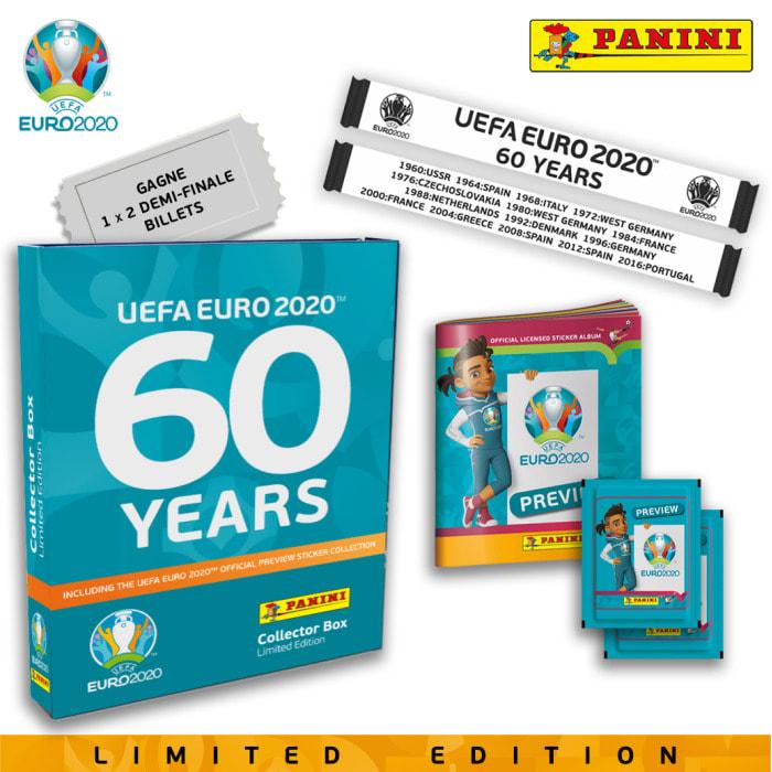 PANINI EUFA EURO 2020 PREVIEW STICKERS COFFRET BLEU