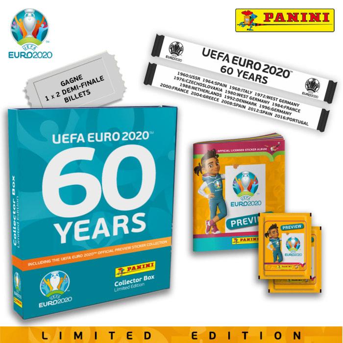 PANINI EUFA EURO 2020 PREVIEW STICKERS COFFRET ORANGE
