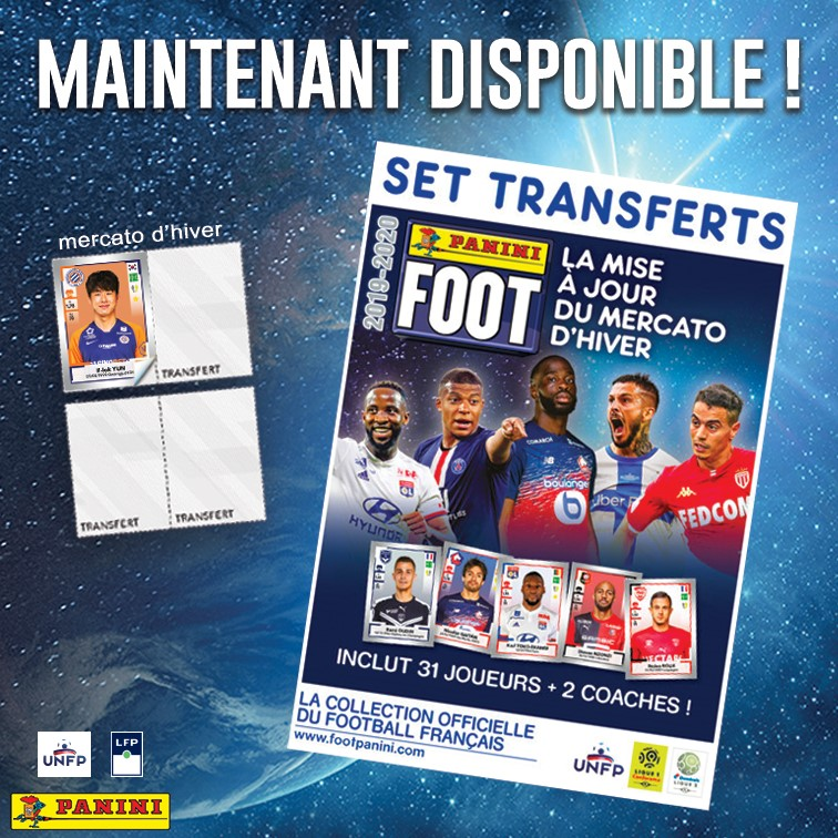 Panini Foot Ligue 1 Ligue 2 Stickers 2019 2020 Mise A Jour