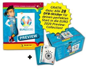 PANINI UEFA EURO 2020 PREVIEW STICKERS ALLEMAGNE BUNDLE
