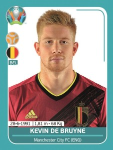 PANINI UEFA EURO 2020 PREVIEW STICKERS DE BRUYNE