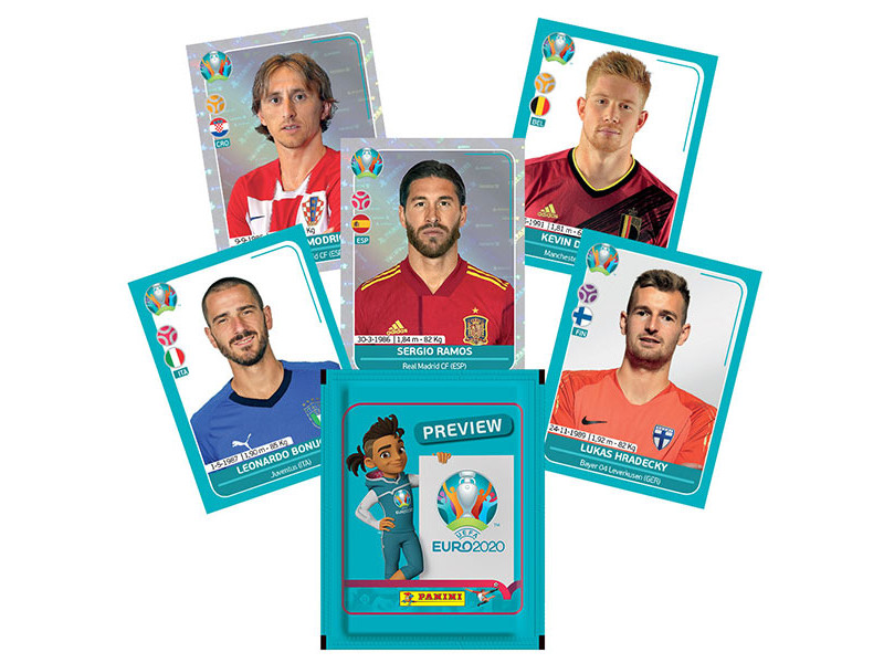 PANINI UEFA EURO 2020 PREVIEW STICKERS EXEMPLES DE STICKERS