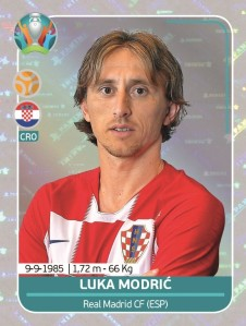 PANINI UEFA EURO 2020 PREVIEW STICKERS MODRIC