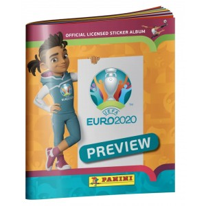 PANINI UEFA EURO 2020 PREVIEW STICKERS ORANGE ALBUM