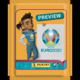 PANINI UEFA EURO 2020 PREVIEW STICKERS ORANGE POCHETTE