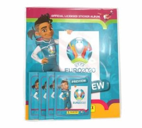 PANINI UEFA EURO 2020 PREVIEW STICKERS PACK DE DEMARRAGE