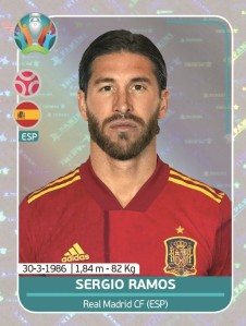 PANINI UEFA EURO 2020 PREVIEW STICKERS RAMOS