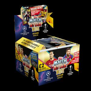 TOPPS MATCH ATTAX 101 2019-20 BOITE DE 24 POCHETTES DE 15 CARTES