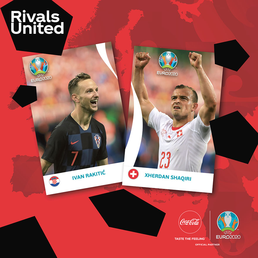PANINI UEFA EURO 2020 PREVIEW STICKERS SUISSE COCA-COLA EXEMPLES 02