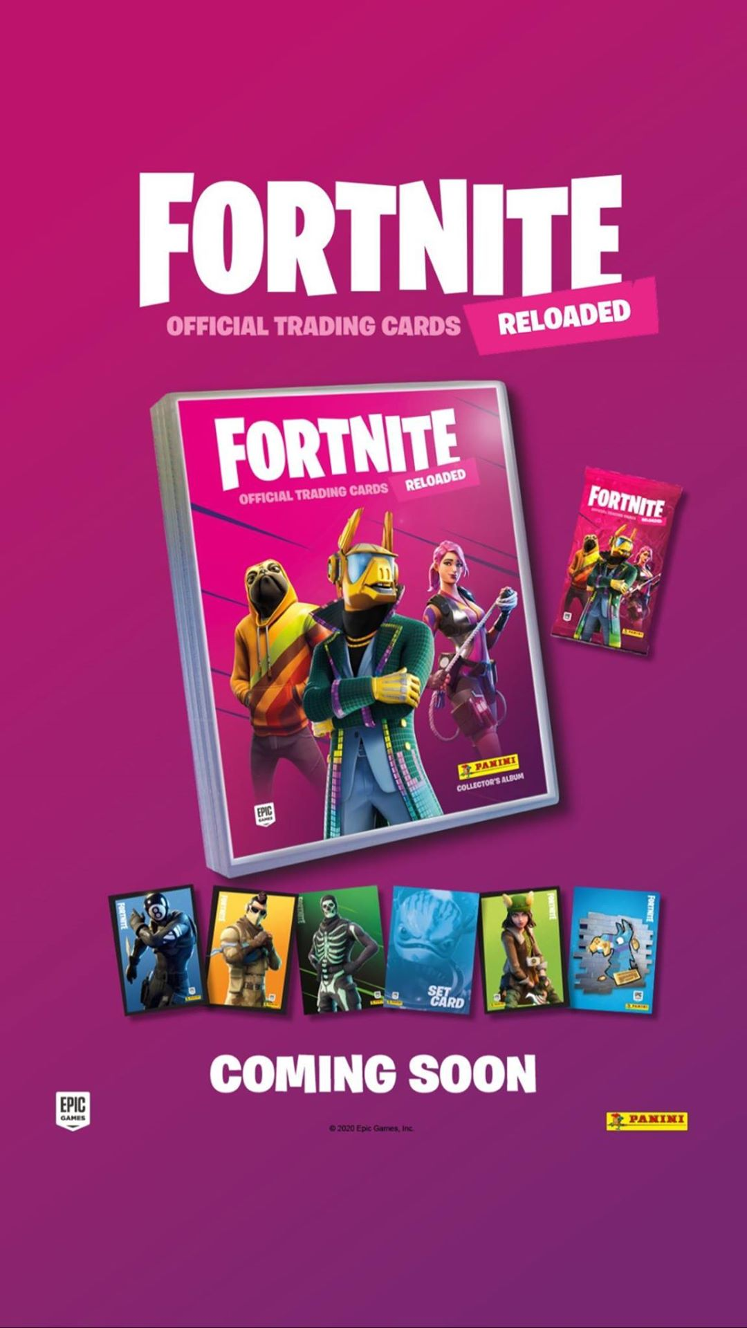PANINI FORTNITE RELOADED TRADING CARDS 2020