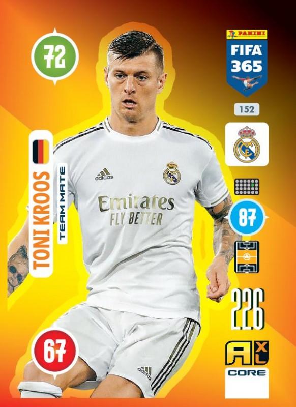 PANINI ADRENALYN XL FIFA 365 2021 152 TEAM MATE TONI KROOS MADRID
