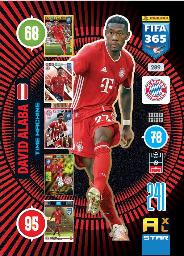 PANINI ADRENALYN XL FIFA 365 2021 289 TIME MACHINE DAVID ALABA MUNICH