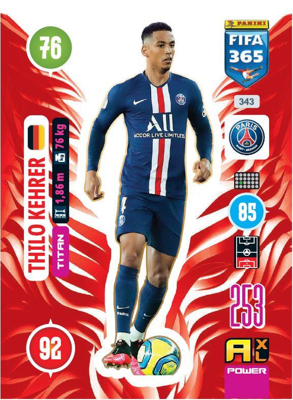 PANINI ADRENALYN XL FIFA 365 2021 343 TITAN THILO KEHRER PARIS