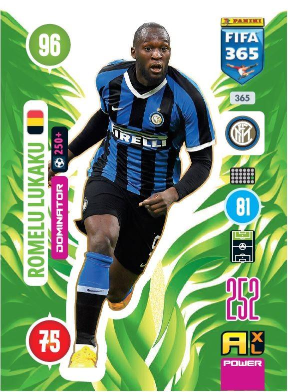 PANINI ADRENALYN XL FIFA 365 2021 365 DOMINATOR ROMELU LUKAKU INTER MILAN