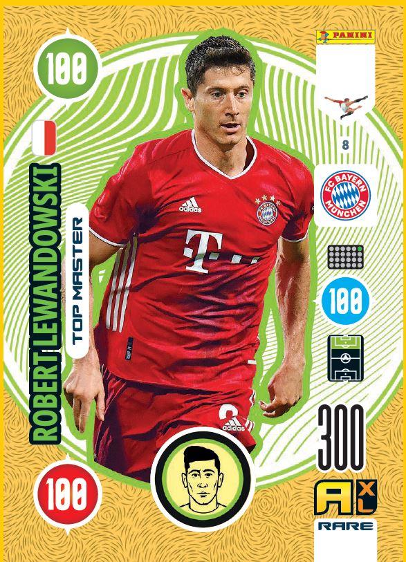 PANINI ADRENALYN XL FIFA 365 2021 8 TOP MASTER ROBERT LEWANDOWSKI MUNICH