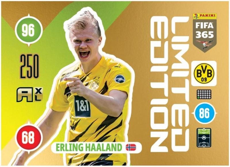 PANINI ADRENALYN XL FIFA 365 2021 LE ERLING HAALAND DORTMUND