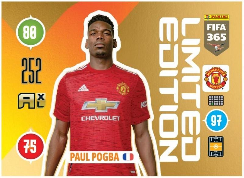 PANINI ADRENALYN XL FIFA 365 2021 LE PAUL POGBA MANCHESTER