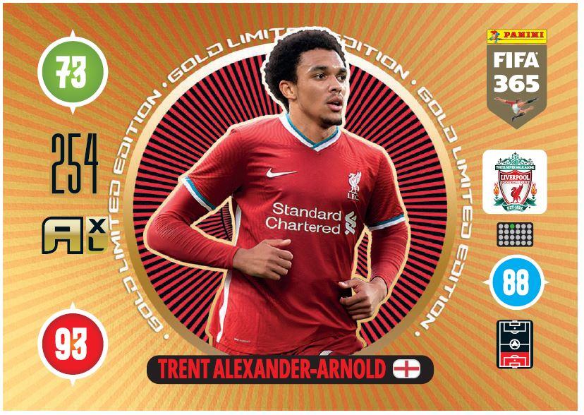 PANINI ADRENALYN XL FIFA 365 2021 LE PREMIUM GOLD ALEXANDER-ARNOLD LIVERPOOL