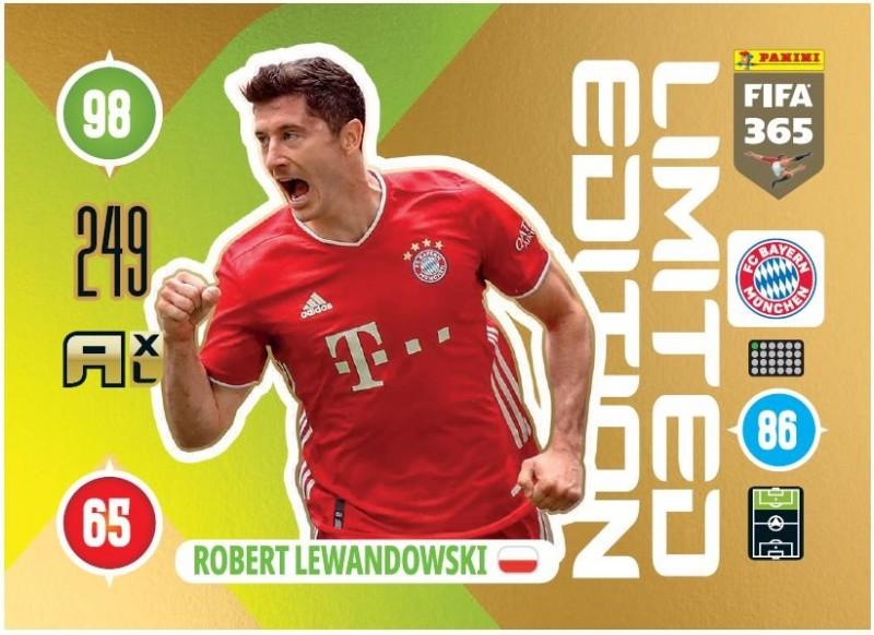 PANINI ADRENALYN XL FIFA 365 2021 LE ROBERT LEWANDOWSKI MUNICH