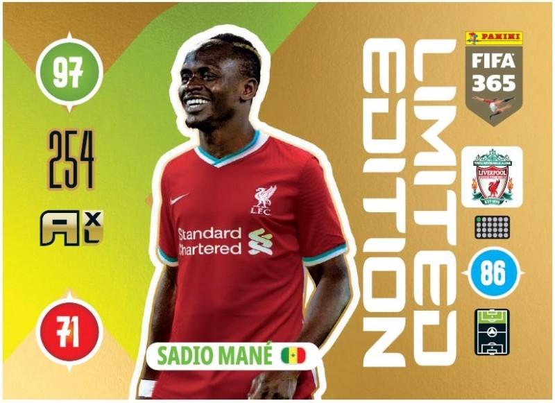 PANINI ADRENALYN XL FIFA 365 2021 LE SADIO MANE LIVERPOOL