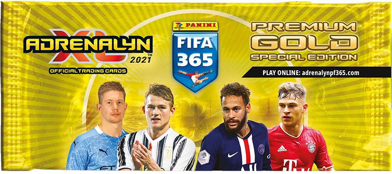PANINI ADRENALYN XL FIFA 365 2021 POCHETTE PREMIUM GOLD