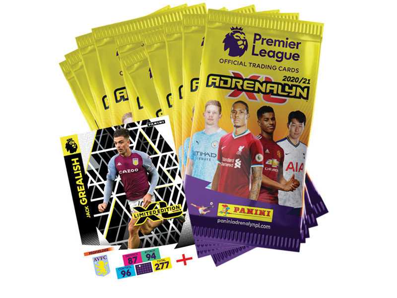 PANINI ADRENALYN XL PREMIER LEAGUE 2020-21 BUNDLE 10 POCHETTES LE GREALISH
