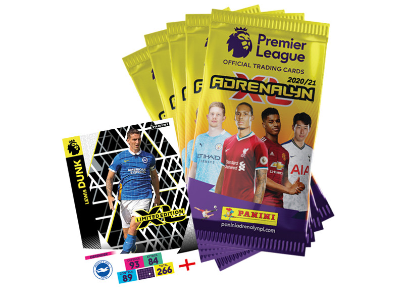 PANINI ADRENALYN XL PREMIER LEAGUE 2020-21 BUNDLE 5 POCHETTES LE DUNK