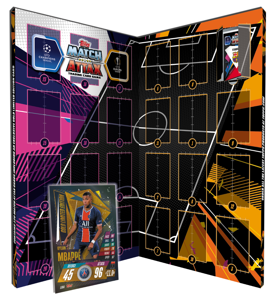 TOPPS MATCH ATTAX CHAMPIONS LEAGUE 2020-21 CALENDRIER AVENT