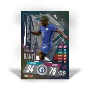 TOPPS MATCH ATTAX CHAMPIONS LEAGUE 2020-21 LE KANTE SILVER