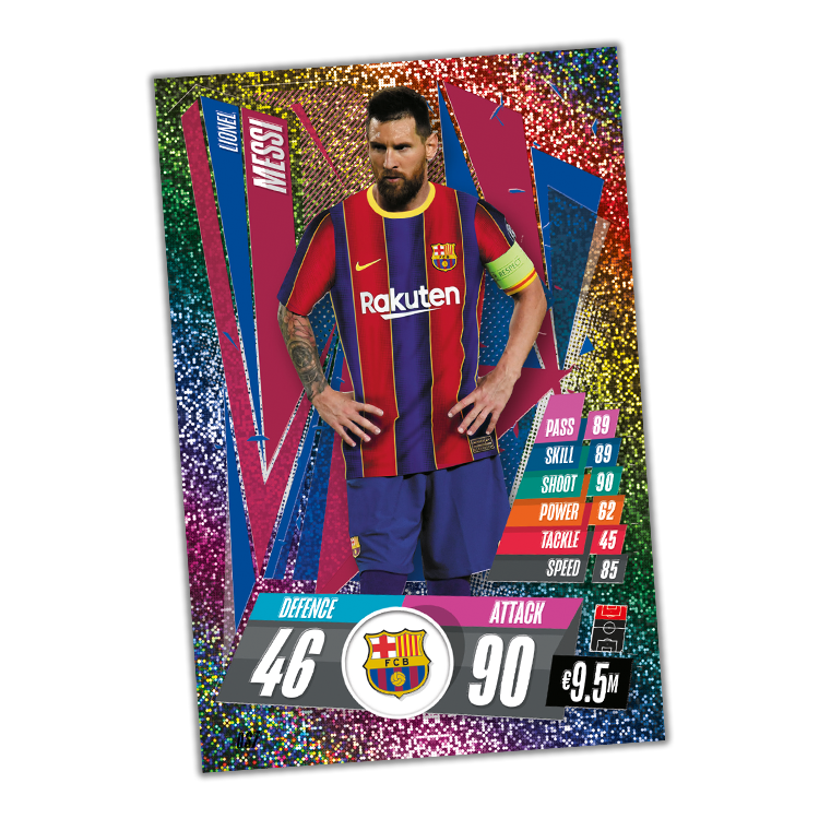TOPPS MATCH ATTAX CHAMPIONS LEAGUE 2020-21 LE MESSI XL