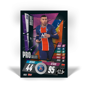TOPPS MATCH ATTAX CHAMPIONS LEAGUE 2020-21 PRO SELECT PS15 MBAPPE