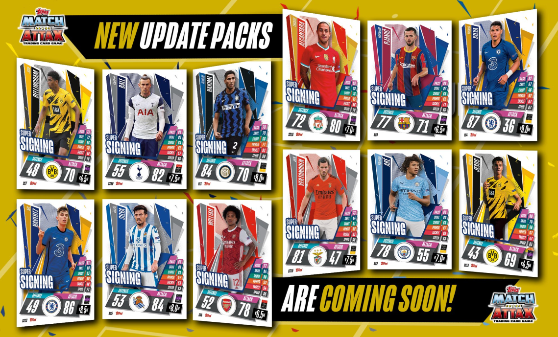 TOPPS MATCH ATTAX CHAMPIONS LEAGUE 2020-21 UPDATE PACKS