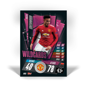TOPPS MATCH ATTAX CHAMPIONS LEAGUE 2020-21 WILDCARDS WC9 GREENWOOD