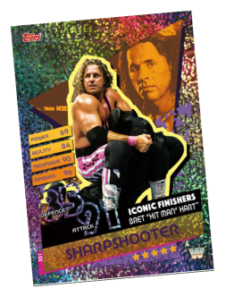 TOPPS WWE SLAM ATTAX RELOADED 2020 ICONIC FINISHERS SHARPSHOOTER
