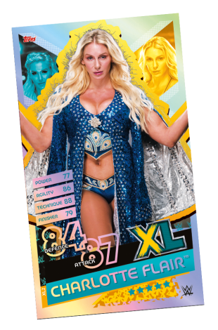 TOPPS WWE SLAM ATTAX RELOADED 2020 LE CHARLOTTE FLAIR XL
