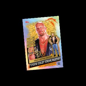 TOPPS WWE SLAM ATTAX RELOADED 2020 LE GOLD STEVE AUSTIN