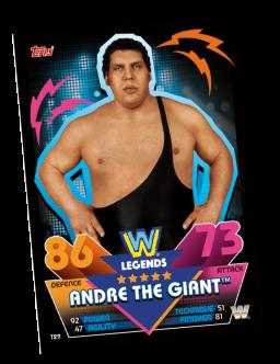 TOPPS WWE SLAM ATTAX RELOADED 2020 LEGENDS ANDRE THE GIANT