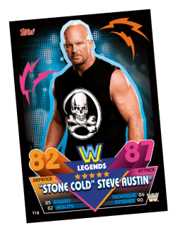 TOPPS WWE SLAM ATTAX RELOADED 2020 LEGENDS STEVE AUSTIN