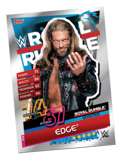 TOPPS WWE SLAM ATTAX RELOADED 2020 ROYAL RUMBLE BOOSTER EDGE