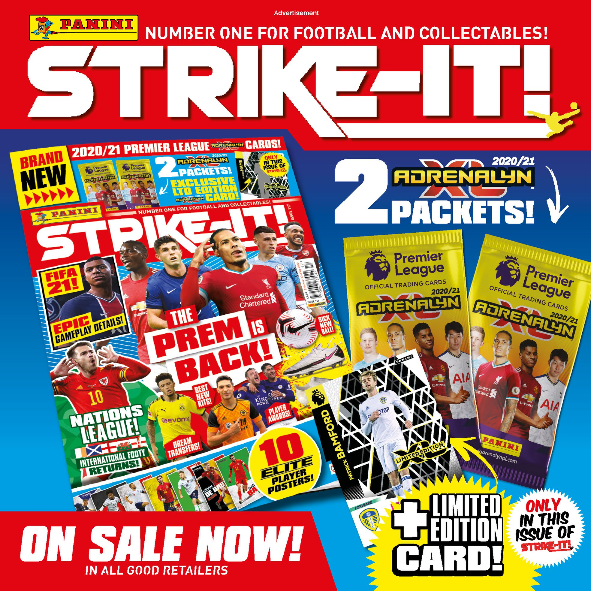 PANINI ADRENALYN XL PREMIER LEAGUE 2020-21 ANNONCE STRIKE-IT 2020-08