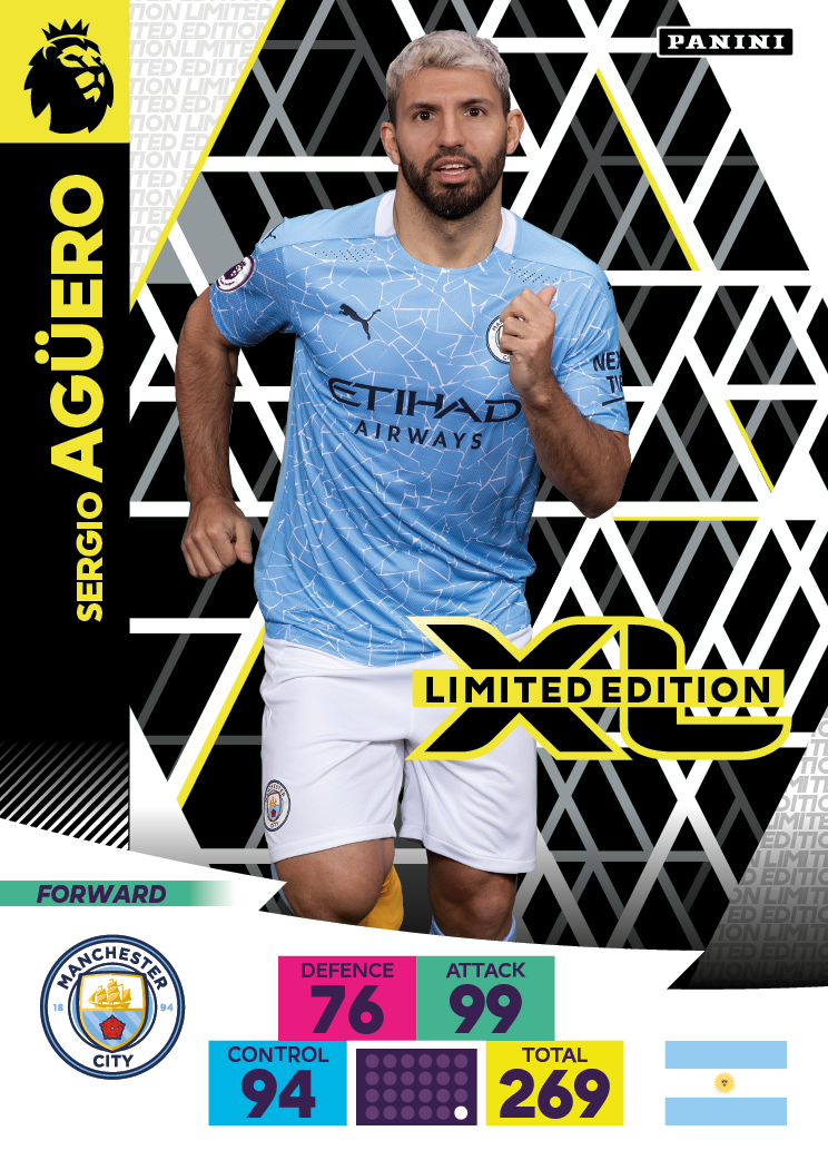PANINI ADRENALYN XL PREMIER LEAGUE 2020-21 LE AGUERO