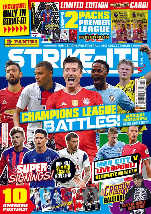 PANINI ADRENALYN XL PREMIER LEAGUE 2020-21 MAGAZINE STRIKE-IT 119